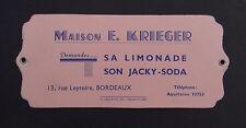 BUVARD Maison KRIEGER Limonade JACKY-SODA Bordeaux Aquitaine blotter Löscher 2