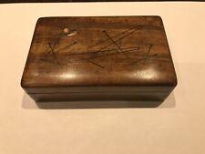 Antique Box. Marquetry Inlaid.