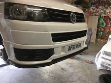 VW VOLKSWAGEN T5 SPORTLINE FACELIFT BLACK FRONT LOWER SPLITTER R LINE T28