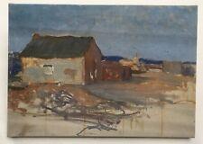 Tableau, Huile sur toile, Paysage avec maisons, XXe