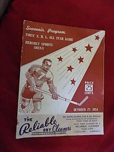 1954 1st AHL All Star Game Hockey Program Emile Francis Fred Shero