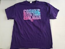 Dunkin Donuts Cosmic Cotton Candy Coolatta Purple Graphic T-Shirt Size Large
