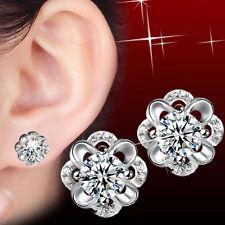 Stud Daisy Flower Earrings Jewelry 1Pair Fashion Women Crystal Rhinestone Ear