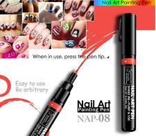 Orange Red Nail Art Pen Painting Design Tool DIY Dot Drawing UV Gel Polish