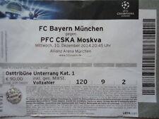 TICKET UEFA CL 2014/15 Bayern München - CSKA Moskva Moskau