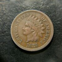 1870 Indian Head Cent XF Extremely Fine Key Date Liberty Penny 1c VF+ EF