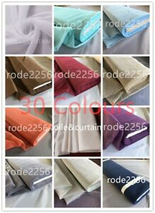 VOILE FABRIC WIDE 59'' (150cm) SOLD BY THE METER 30 Colours Free Delivery