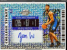 2019-20 Contenders Optic Zion Williamson Mojo Prizm FOTL very rare RC (06/10)