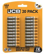 20 X AAA JCB SUPER POWER ALKALINE 1.5V BATTERIES LR03 MN2400 LONGEST EXPIRY NEW