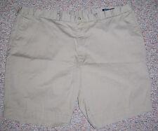 RALPH LAUREN Khaki Flat Front Classic Fit Long Above Knee Khaki Shorts Size 50