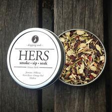 HERS Legal, Organic, Herbal Smoking Blended Tea • Smoke | Sip | Soak