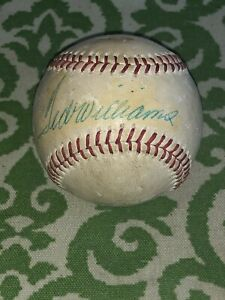 Vintage 1960s Ted Williams Single Signed Baseball Red Sox JSA