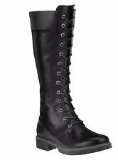 Timberland Women's 14-Inch Premium Side-Zip Lace Waterproof 8632A Black