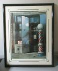 David Mann Framed, Signed & Numbered Limited Edition Litho  AL'S BARBERSHOP