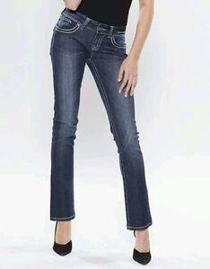 Jeans JAPRAG FEMME bleu foncé poche sequin T.42  a prix cassé!!!
