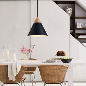 Black Pendant Light Modern Wood Ceiling Lamp Home Pendant Lighting Kitchen Light