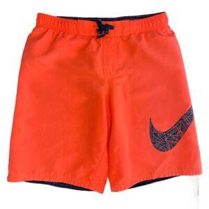 Nike Orange Swoosh Swim Trunks Men's L Beach Pool Vacation Island Lake
