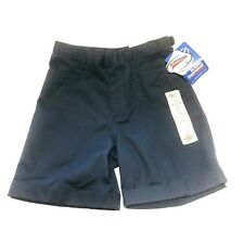 Dickies Girls School Uniform Shorts Classic Fit  Navy Size 14 Reg D-Ring NWT