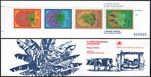 Portugal Madeira 82-85a, Booklet, MNH. Local flora. Flowers, 1982