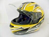 Gmax Snowmobile Helmet Snell M2005 DOT EUC Full Face & Visor Size Large 59/60 mm