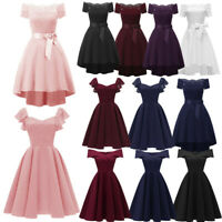 Women Formal Mini Cute Chiffon Dress Prom Evening Party Cocktail Bridesmaid Gown
