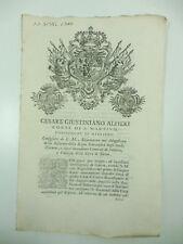 Cesare Giustiniano Alfieri conte di S. Martino...tassa sulla guerra