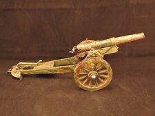 Large Marklin field cannon, #8063/2, camo, brass barrel, cast iron carriage