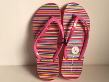 NEW TOMMY HILIFIGER AMAZE PINK STRIPES SLIPPERS FLIP-FLOPS 7 37/38 SALE