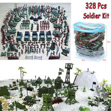 328 Pcs Soldier Kit Grenade Aircraft Rocket Army Men Sand Scene Model Kids Toy