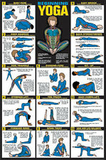 BEGINNING YOGA Professional Fitness Gym Wall Chart POSTER