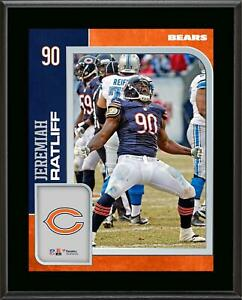 Jeremiah Ratliff Chicago Bears 10.5'' x 13'' Sublimated Player Plaque