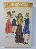 "Simplicity Pattern 5080 Misses Sz 16 Waist 30"" Skirts 2 Lengths Pleated Bias Use"