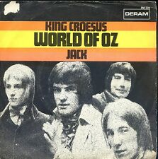 7inch WORLD OF OZ king croesus HOLLAND EX +PS ( white spot on cover)