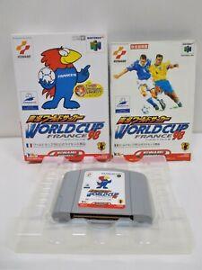 N64 -- World Cup France '98 -- Boxed. Nintendo 64, Japan. Game. Konami. 20507