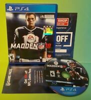 Madden 18 NFL Football  PS4 Sony Playstation 4  GAME Tested  Complete Tom Brady