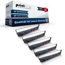 5x XXL Schriftbänder für OKI 09002311/ML393 Schrift Kassette - Easy Print Serie