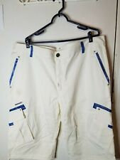 NEW Crown Holder Mens White/Military Blue Shorts Size 42