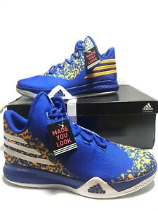 Adidas Made You Look Harrison Barnes Golden State Warriors Sz 14 Blue AH1070