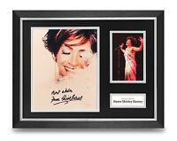 Shirley Bassey Signed Photo Framed 16x12 Display Music Autograph Memorabilia COA