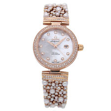Omega De Ville Ladymatic Rose Gold Auto 34mm Ladies Watch 425.65.34.20.55.008