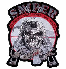 Patriotic Invisible Souls Sniper Skull One Shot One Kill Military Patch Medium
