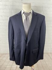 Joseph and Feiss Men's Big and Tall Navy Blazer Solid Wool Blazer 50R $495