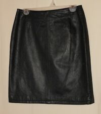 Vtg. 80's Leather Skirt Pencil Straight Retro High Waist Minimal Wilsons Size 8
