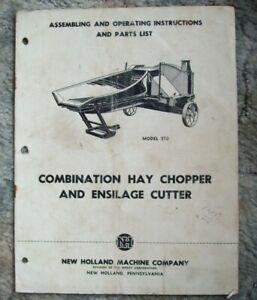 New Holland Assembling & Operating Instructions & Parts List Model 550 Cutter-->