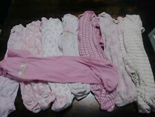 8 Pc Fall Lot Carters Infant Baby Girl Sleeper Pajamas Size 0-3 Months 0 To 3 3M