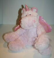 "Hobby Lobby UNICORN 12"" Fluffy Pink Plush Shimmer Wings Stuffed Animal Soft Toy"
