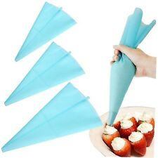 30cm Silicone Reusable Icing Piping Cream Pastry Bag Cake Decorating Tool DIY LS
