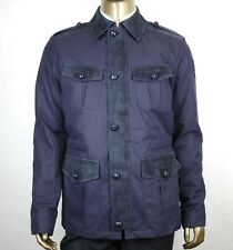 db6aeaa09 $2950 Gucci Men's Midnight Blue Cotton/Poly Washed Gabardine Jacket 406019  4080