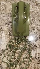 Vintage  Northern Telecom Olive Green Dial Wall Telephone with wall mount