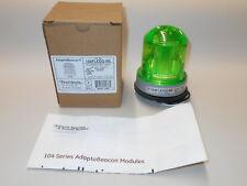 New Edwards Signaling AdaptaBeacon 104FLEDG-NS Flashing LED Light, Green, 120VAC